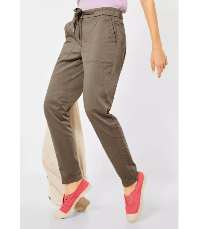 Cecil Casual Fit Hose Chelsea - Dark Sand