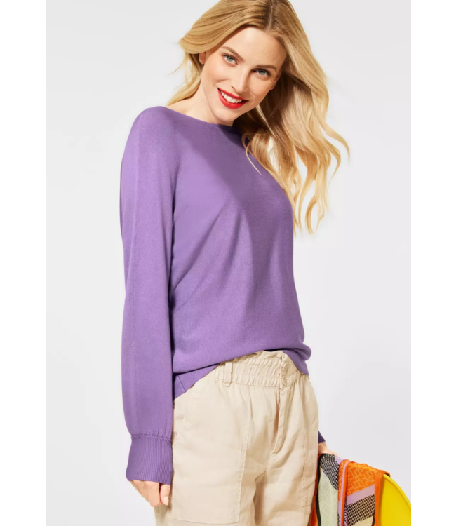 Street One Basic Sweater - Clear Lilac
