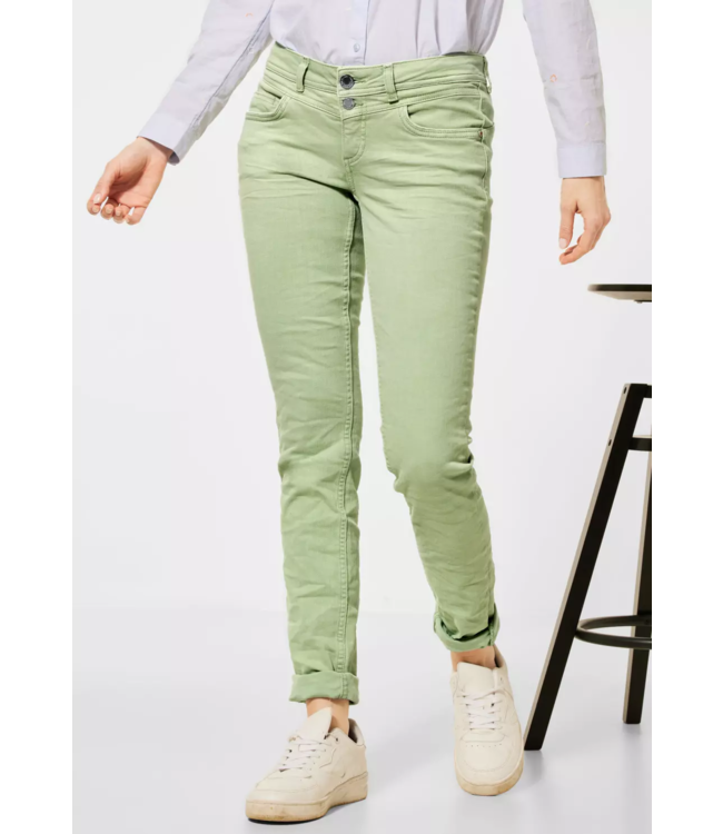 Street One Casual Fit Denim in Colour Crissi - Faded Green Summer Wash