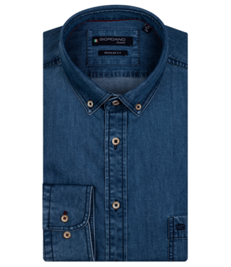 Giordano Denim Overhemd - Dark Navy