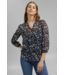 Esprit Gerecycled: Chiffon Blouse met Print - Navy