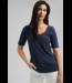 Esprit Met Linnen: Basic T-Shirt - Navy