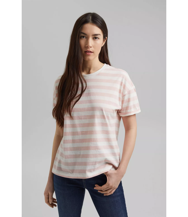 Esprit Gestreiftes T-Shirt, Organic Cotton - Nude