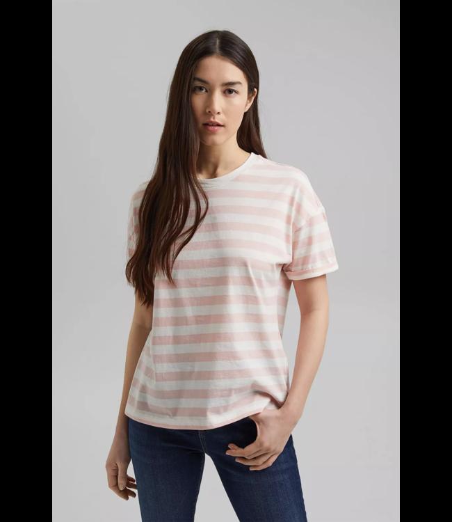 Esprit Striped Shirt, Organic Cotton - Nude