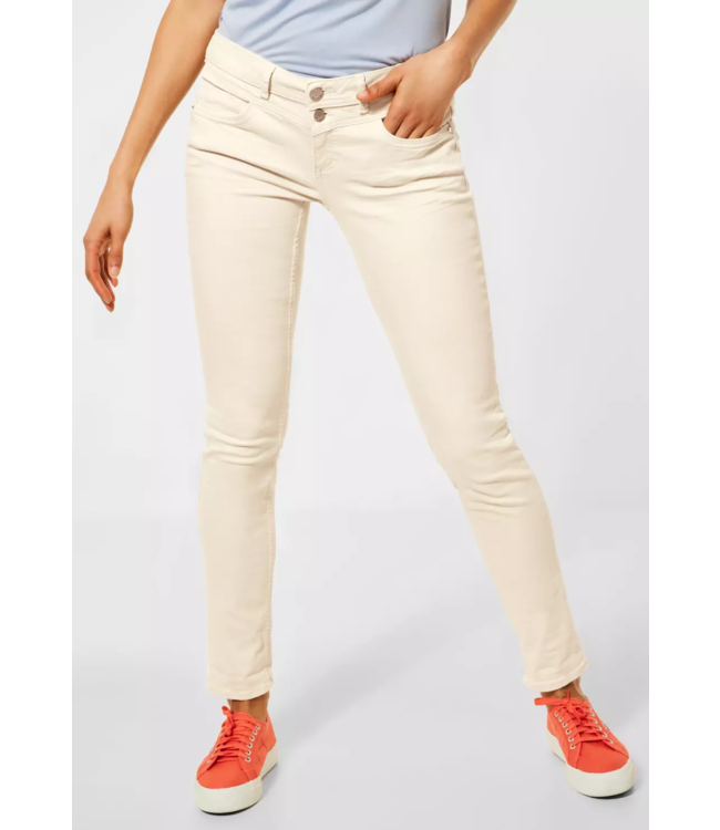 Street One Kleurrijke Casual Fit Denim Crissi - Milky Sand Summer Wash