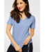 Street One T-Shirt with Cord - Mid Sunny Blue