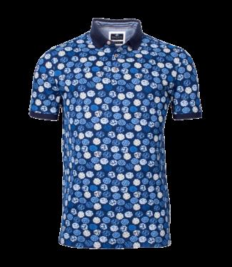 Baileys Polo Shirt Allover Print - Jeans Blue