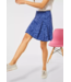 Street One Mini Skirt with Print Cecilia - Eclipse Blue