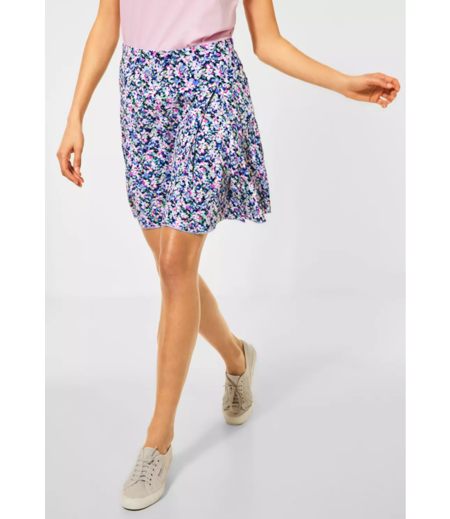 Street One Mini Skirt with Print Cecilia - Pearl Rose