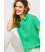 Street One Blouse with Collar - Yucca Green