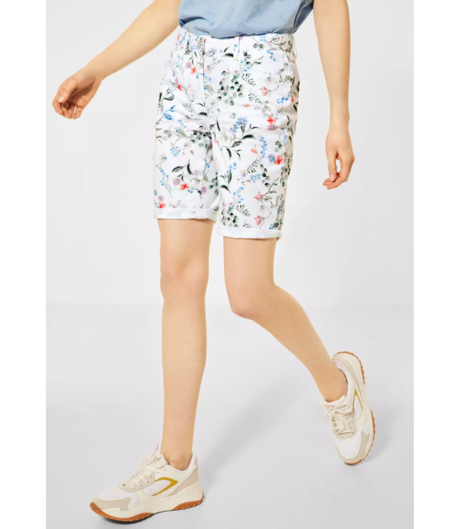 Cecil Loose Fit Shorts met Bloemen New York - White