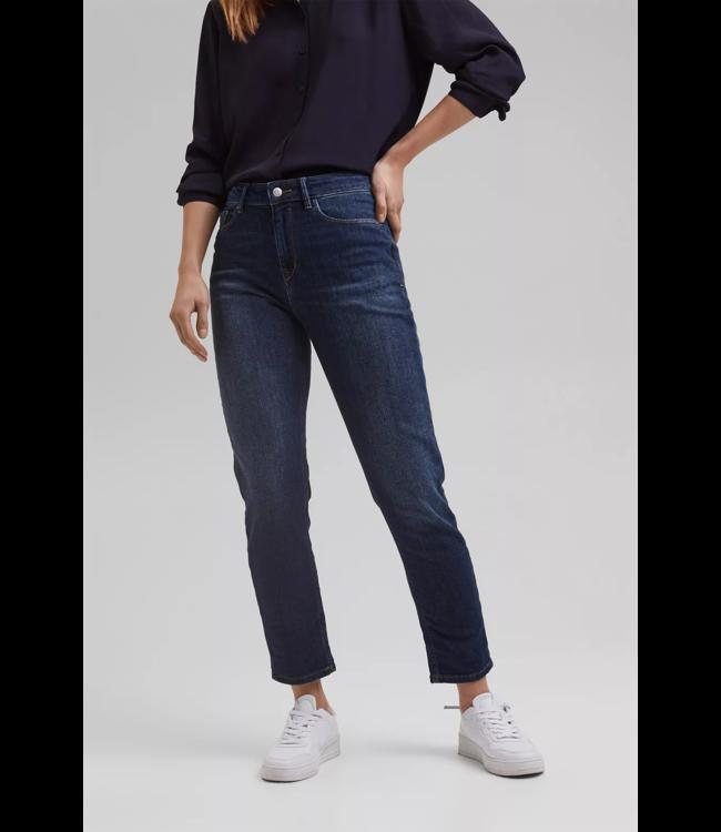 Esprit Cropped Jeans, Biologisch Katoen - Blue Dark Washed