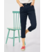 Cecil Slim Fit Pants with High Waist Vicky - Deep Blue