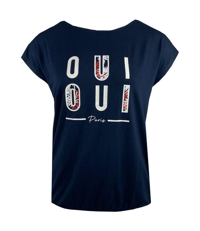 Elvira Collections T-Shirt Oui - Navy