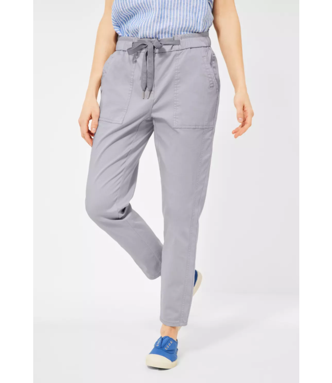 Cecil Casual Fit Broek Chelsea - Cool Silver