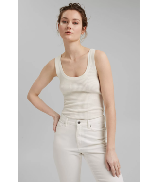 Esprit With Linen: Tanktop - Off White