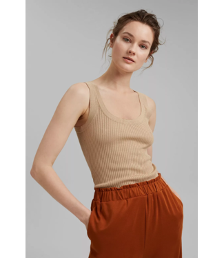 Esprit With Linen: Tanktop - Sand
