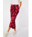 Street One Loose Fit Pants with Print Emee - Spice Red