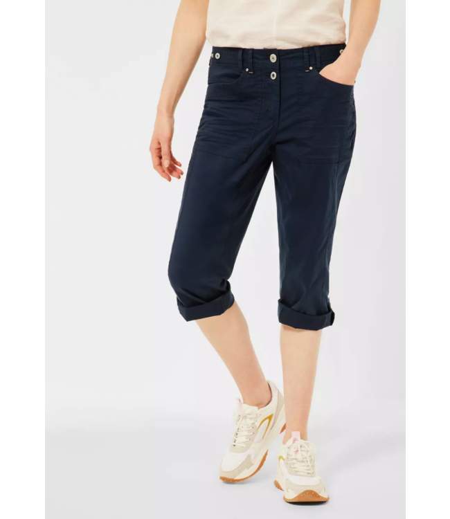 Cecil Casual Fit Hose New York - Deep Blue