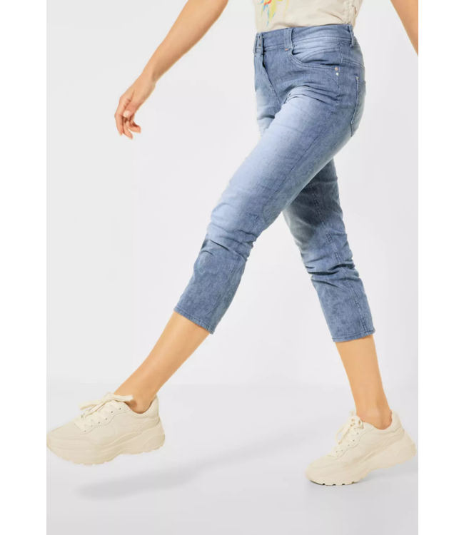 Cecil Loose Fit Jeans Scarlett - Light Blue Used Wash