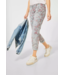 Street One Casual Fit Pants with Flowers Crissi - Light Green Flower Print