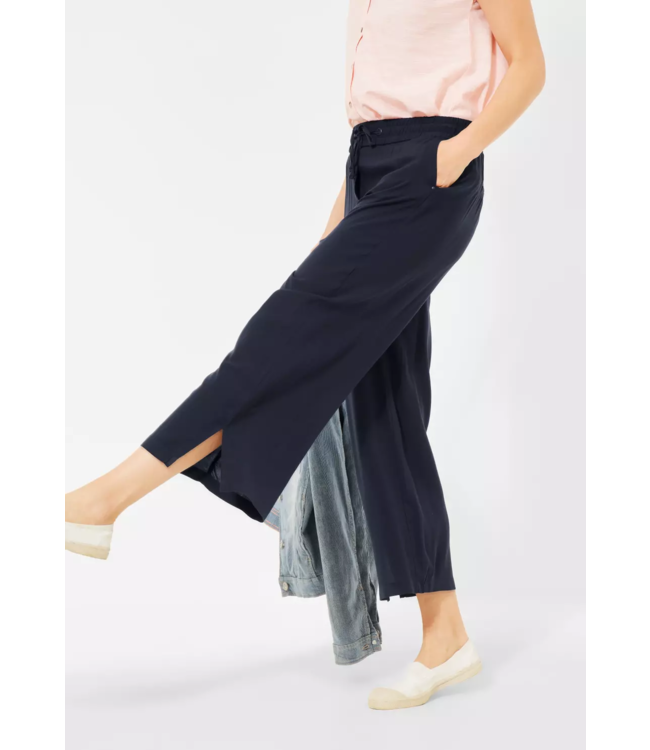 Cecil Loose Fit Pants with Wide Legs - Deep Blue