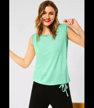 Street One T-Shirt im Leinen Look - Menthe Green