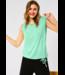 Street One T-Shirt in Linen Look - Menthe Green