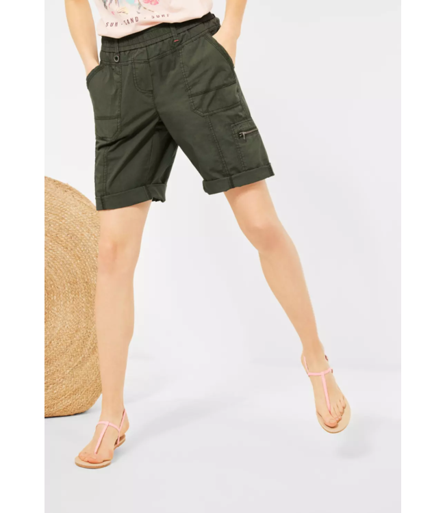 Cecil Loose Fit Shorts Jessy - Utility Olive
