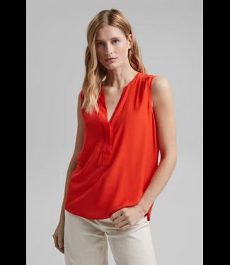 Esprit Blousetop van LENZING™ ECOVERO™ - Orange Red