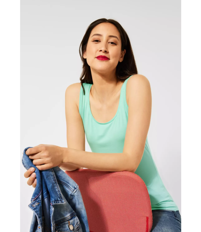 Street One Basic Top Anni - Menthe Green