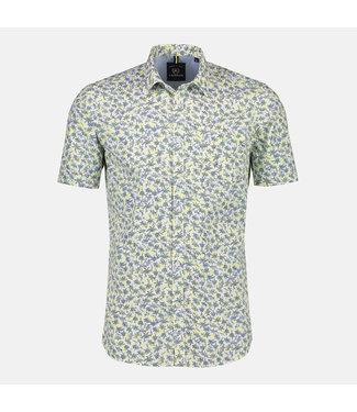 Lerros Korte Mouwen Overhemd - Lime