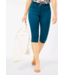 Cecil Slim Fit Pants with High Waist Vicky - Deep Lagoon Blue
