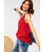 Cecil Blouse with Palmtree Print - Poppy Red