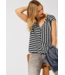 Street One Blouse with Stripe Mix - Black