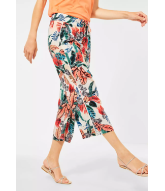 Cecil Loose Fit Hose mit Print - Pure Off White
