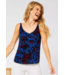 Cecil Top with Floral Print - Lake Blue