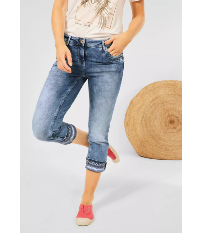 Cecil Loose Fit Denim Scarlett - Authentic Mid Blue Used Wash