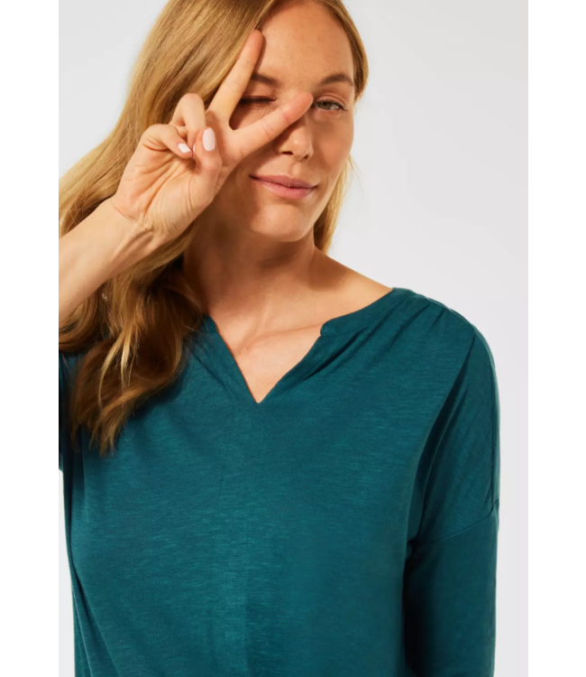 Cecil Shirt in Tunic Style - Hydro Green