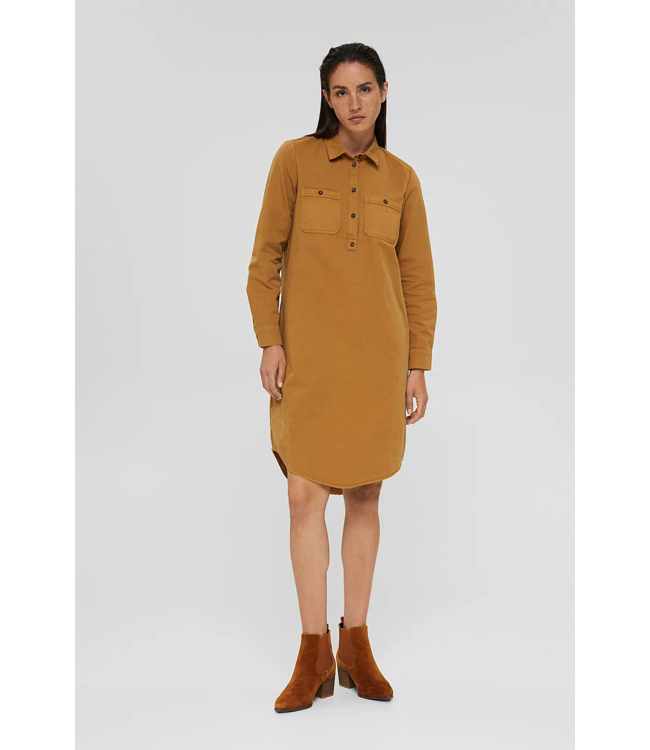 Esprit Dress from 100% Pima Cotton - Camel