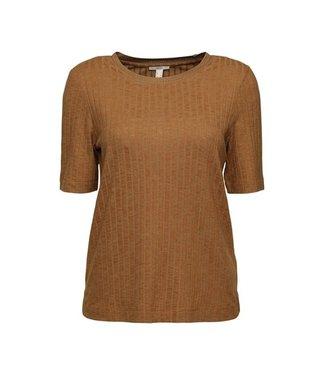 Esprit Shirt with Stripe Structure - Camel