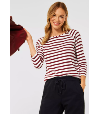 Cecil T-Shirt with Stripes - Copper Brown