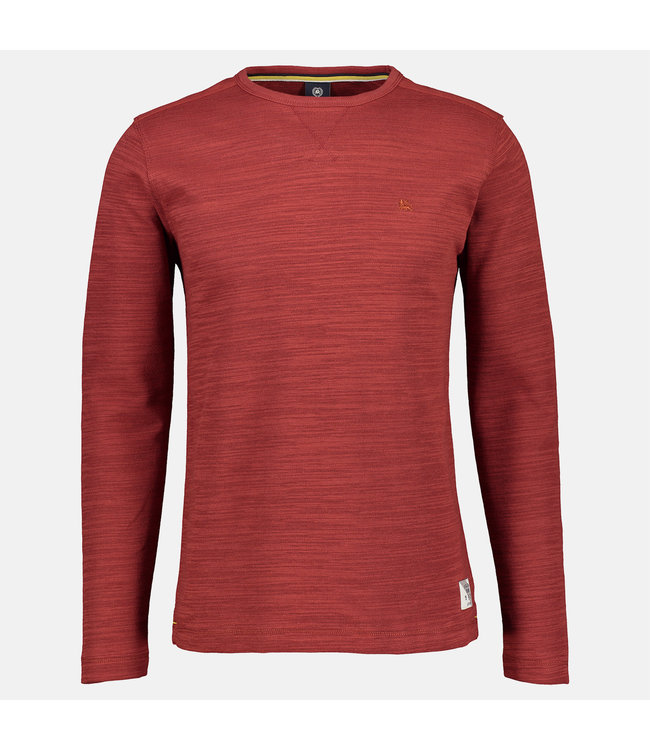 Lerros Longsleeve with Structured Look - Burnt Red