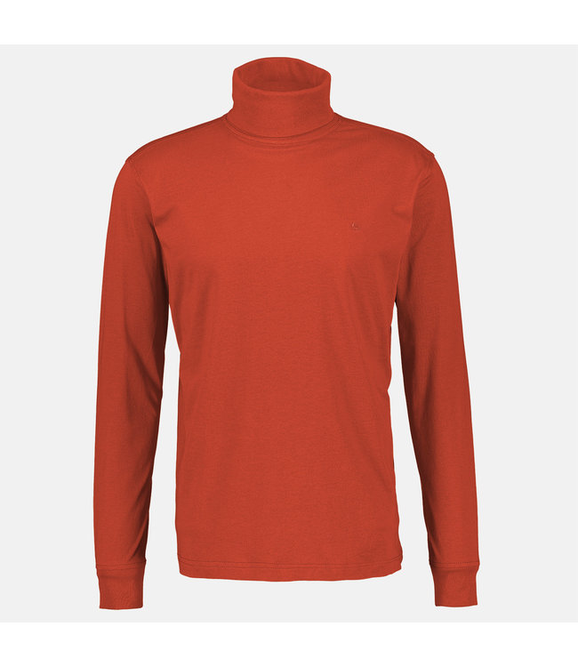 Lerros Longsleeve with Turtleneck - Campfire Red