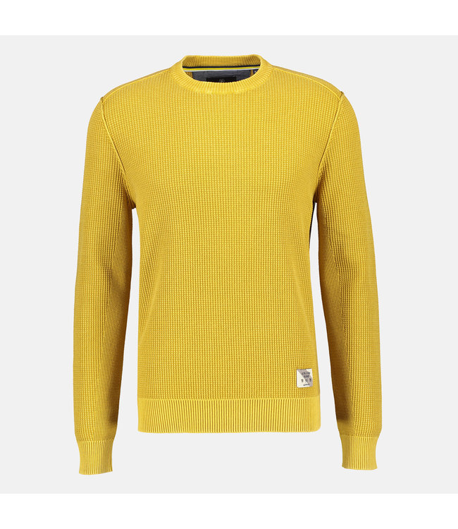 Lerros Sweater Structured Knit - Oily Yellow