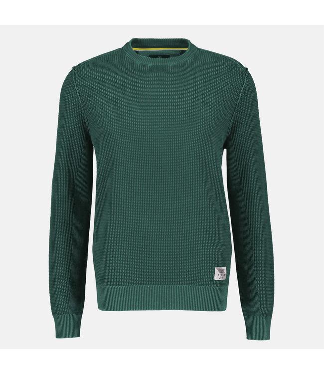Lerros Sweater Structured Knit - Deep Forrest Green