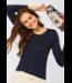 Cecil Organic Cotton Shirt Pia - Deep Blue