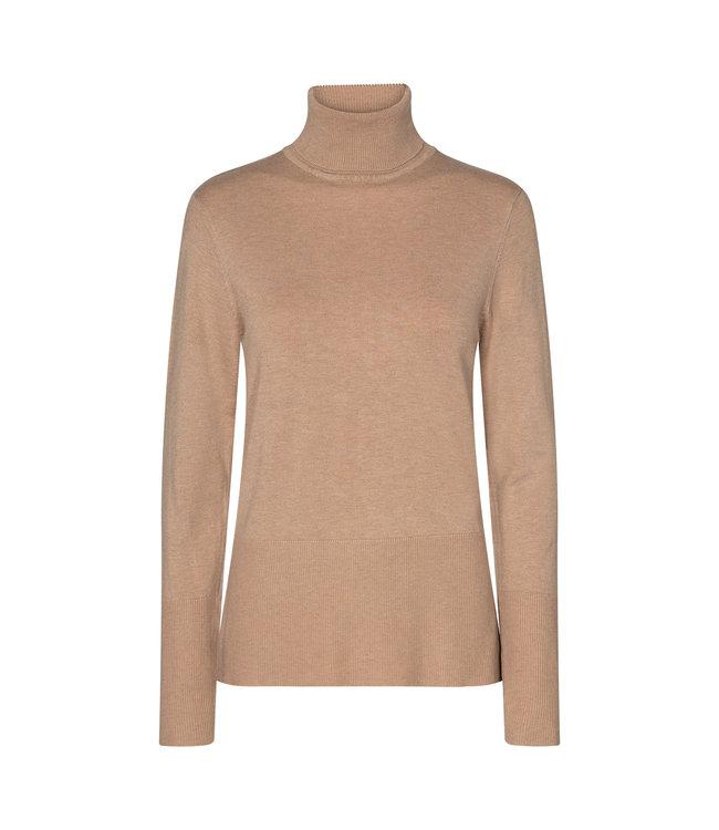 Soyaconcept Sweater with Turtleneck Dollie 145 - Camel Melange