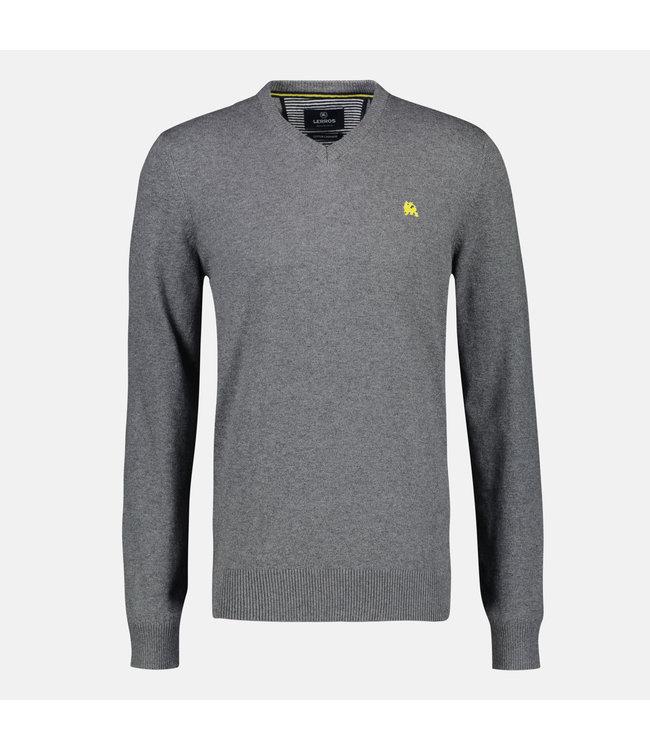 Lerros Pullover mit V-Ausschnitt und Kaschmir - Slate Grey