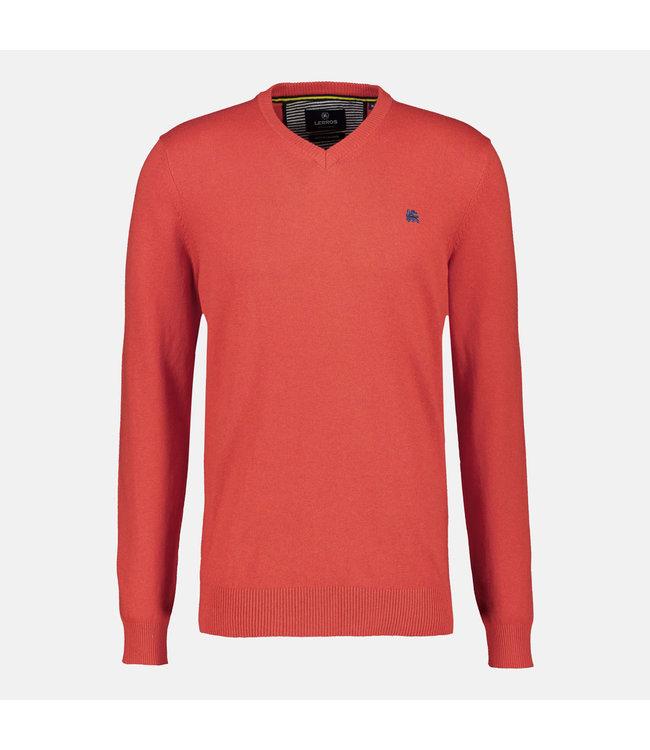 Lerros Pullover mit V-Ausschnitt und Kaschmir - Burnt Red
